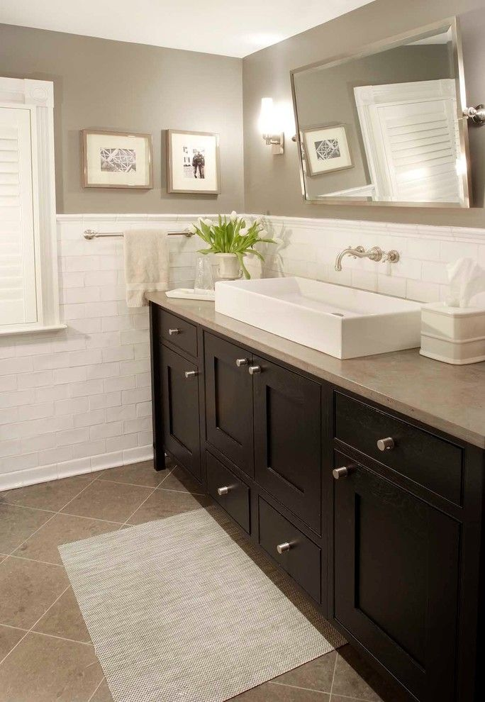 Nice Bathroom Design For Small Space: These Tiles Look Similar To The Hall Bath, So This Is A
