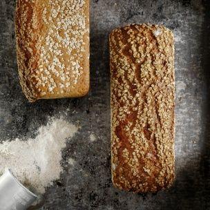 Grovbrød med bygg og havre