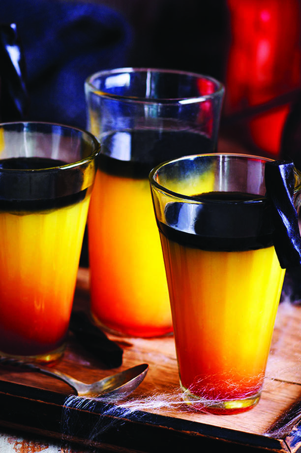 This eery, black cocktail is a scary twist on a classic screwdriver - a wonderfully spooky party idea and the perfect Halloween cocktail for both delighting and terrifying your friends. | Tesco