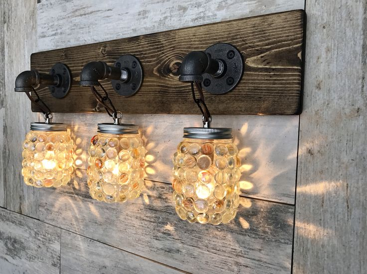 Rustic Industrial Modern Mason Jar Lights Vanity Light: Best 25+ Rustic Vanity Lights Ideas On Pinterest