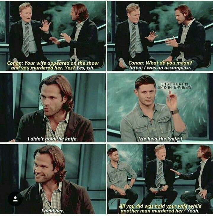 """Haha, Dean's like """"Yah I'll take credit."""""""