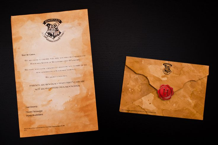 Tea Stained Hogwarts Acceptance Letter #DIY #HarryPotter #HPWLTeaStain