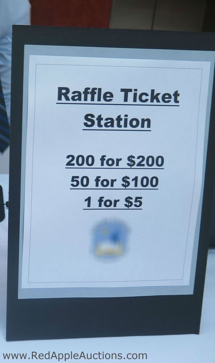 Bucket raffle signage. This raffle has the potential to replace revenue from a silent auction -- and is much easier to manage.
