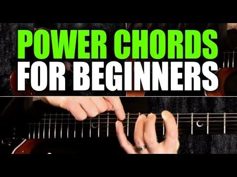▶ Beginner's Guitar Lesson on Power Chords - YouTube