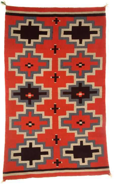 Navajo Germantown Weaving, c. 1900-- wish I could find an ottoman with this color top