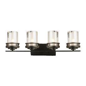 Levico Lighting Madison 4-Light 9.5-In Bronze Cylinder Vanity Light Lv-78004W-Bz