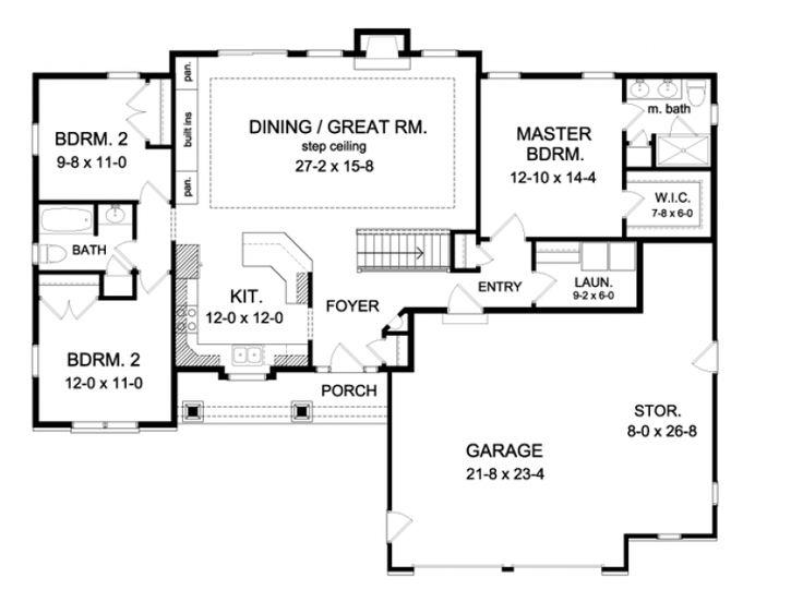 Elegant 1600 Sq Ft House Plans with Walkout Basement