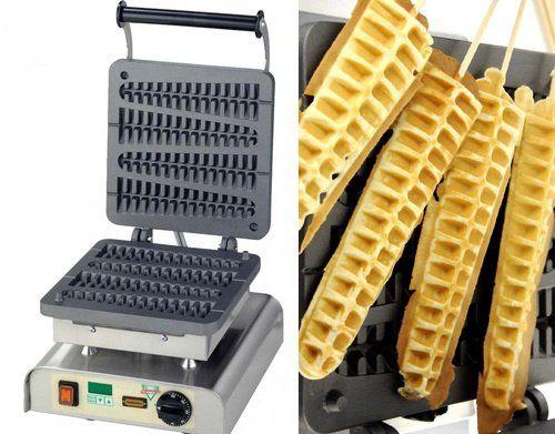 Waffle maker puts waffles on a stick I love making waffles