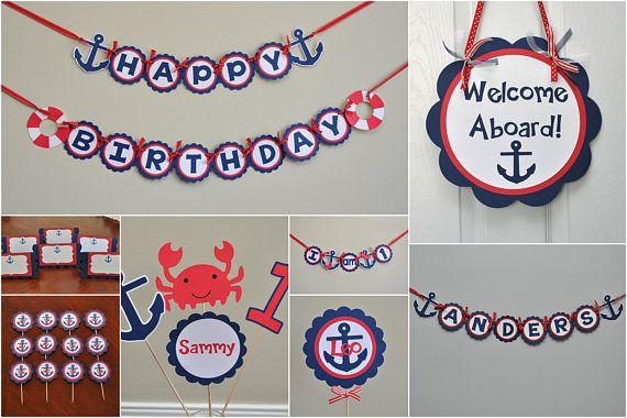 Classroom Nautical Banner Teacher name banner Nautical name