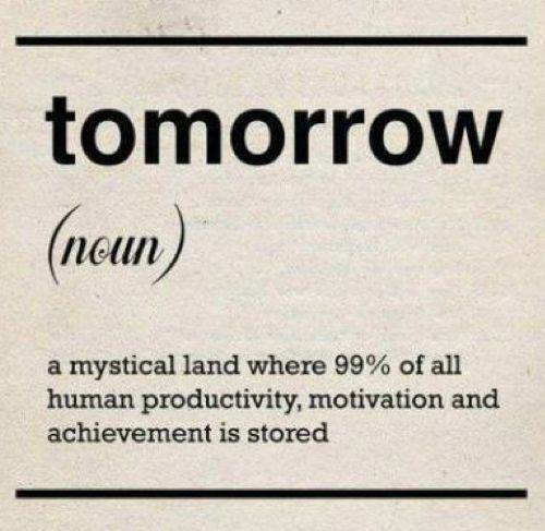 "the meaning of ""tomorrow"""