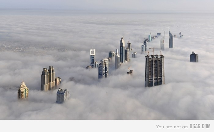 Just Dubai on a cloudy day