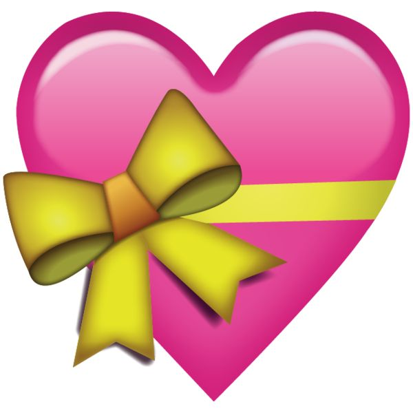 Download Pink Heart With Ribbon Emoji Png Youd Give That Special