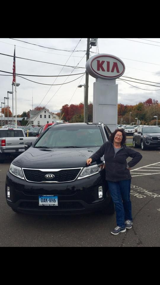 "Congratulations to Robin Anderson on her recent purchase of a 2014 Kia Sorrento EX from Mike Robare. We look forward to seeing you on your first free oil change!  please ""like"" us on FaceBook visit us at www.garyromekia.com or call (860) 253-4753"