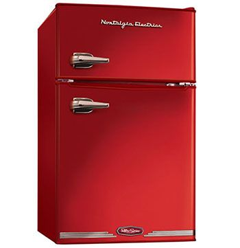 Nostalgia Electrics RRF325HNRED Retro Series Compact Refrigerator - Top 10 Best Mini Fridges in 2016 Reviews