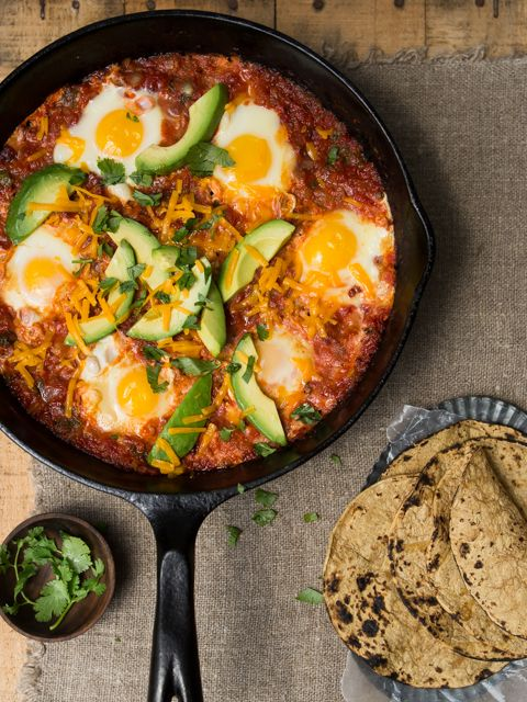 Best Ever Huevos Rancheros. Great for a weekend brunch, all done in one pan, and crazy delicious.
