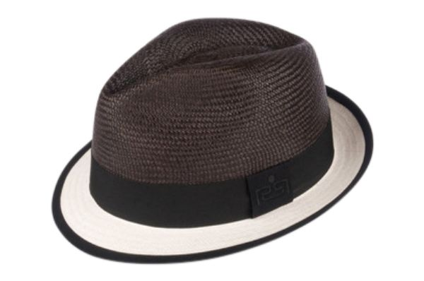 c6cc6084d18 Midnight Chill Fedora Panama Hat made from cutting two panama hats (one  white and one