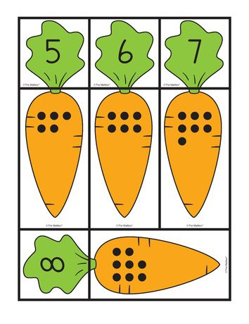 Carrot Cards: matching sets and numbers, Lesson Plans - The Mailbox