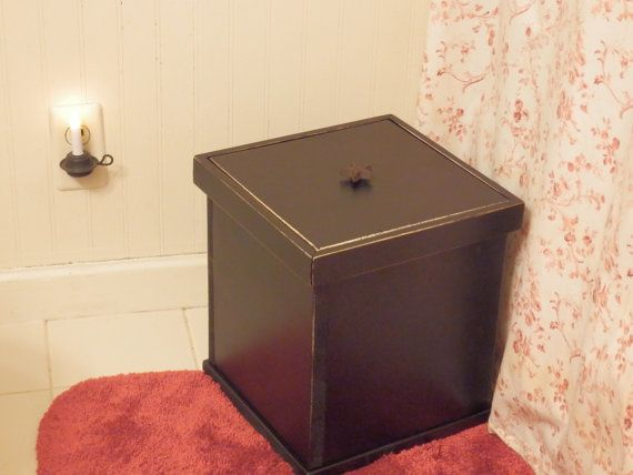 Best 25 Bathroom Trash Cans Ideas On Pinterest Hidden Trash Can Kitchen Garbage Can Storage