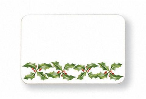 Christmas - Holly Name Tags - 24 Units