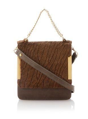 Laura Vela Women's Lola Box Bag, Chocolate
