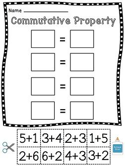 Printables Commutative Property Of Addition Worksheets 3rd Grade 1000 ideas about commutative property on pinterest teaching of addition cut and paste fun