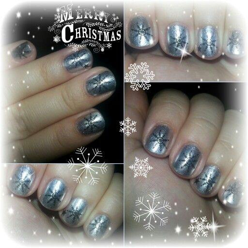 Silver nail art - Moyra No. 91 - essence nail art stampy polish 002 stamp me! black