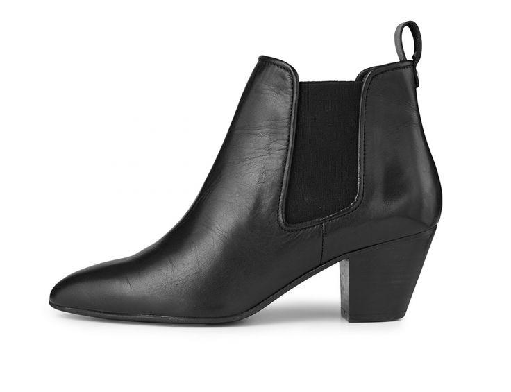 Beate sorte læderstøvler fra Adax style 880150 black