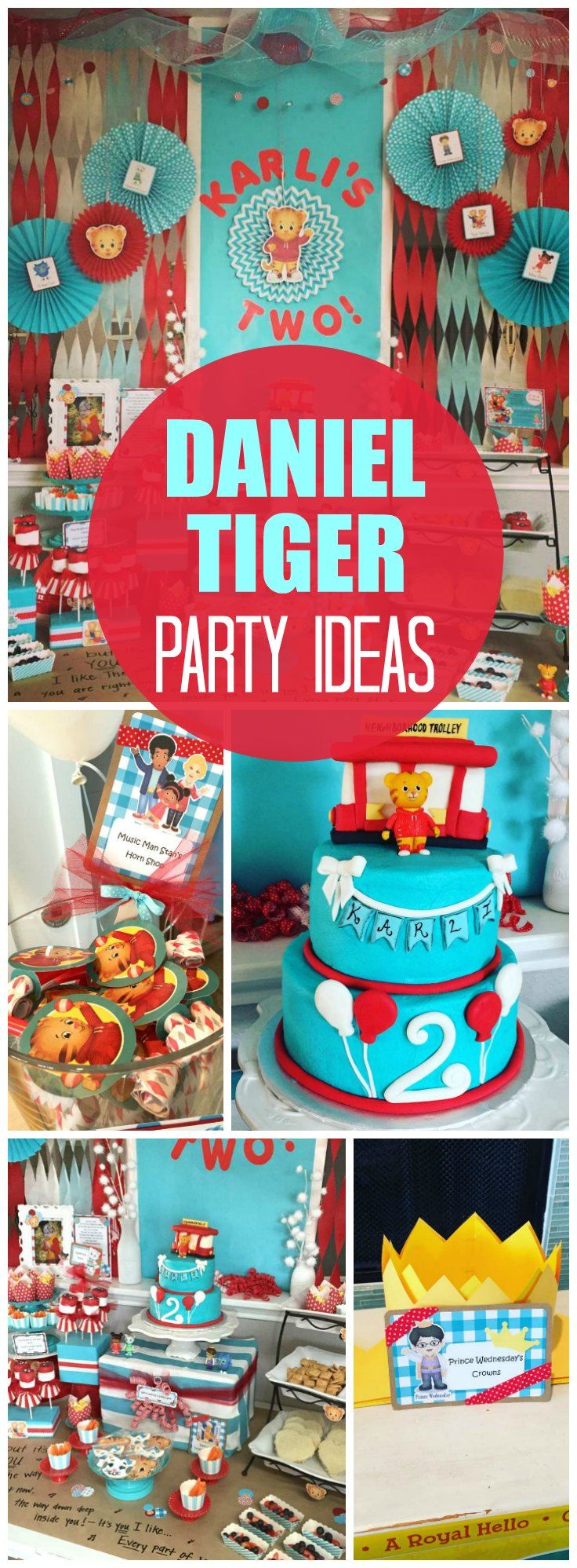 How cute is this Daniel Tiger's Neighborhood boy birthday party! See more party ideas at CatchMyParty.com!