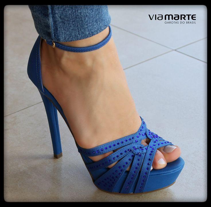 azul cobalto - salto alto - Ref. 13-21105