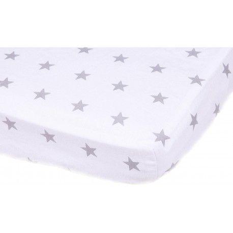 """Prześcieradło z Gumką """"Little Stars"""" Eleganckie prześcieradło wykonane z 100% certyfikowanej bawełny zapewni komfort i wygodę nawet najbardziej wiercącemu się śpiochowi :)"""