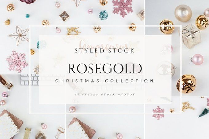 Rosegold Christmas Stock Photos by Fempreneur Styled Stock on @creativemarket