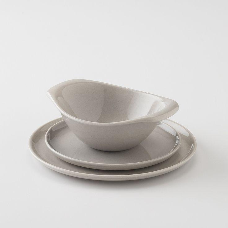 American Modern Dinnerware - Gray