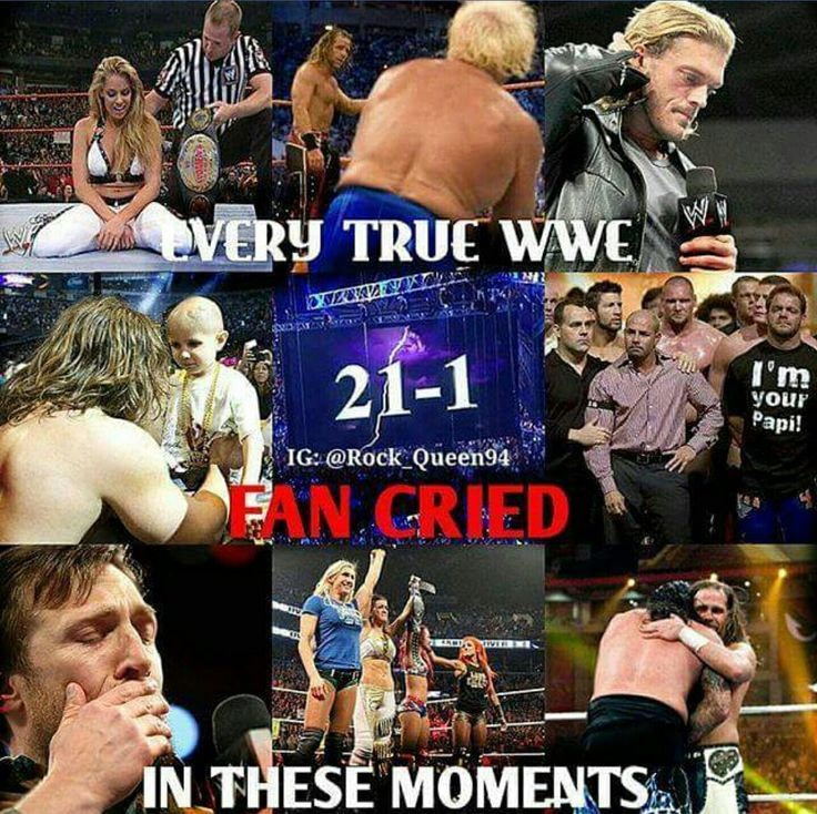 So true! Edge and Daniel Bryan retirement speeches were so beautiful and inspiring, both Shawn Michaels and Ric Flair's last matches were emotional, but the saddest one was Eddie Guerrero passing away