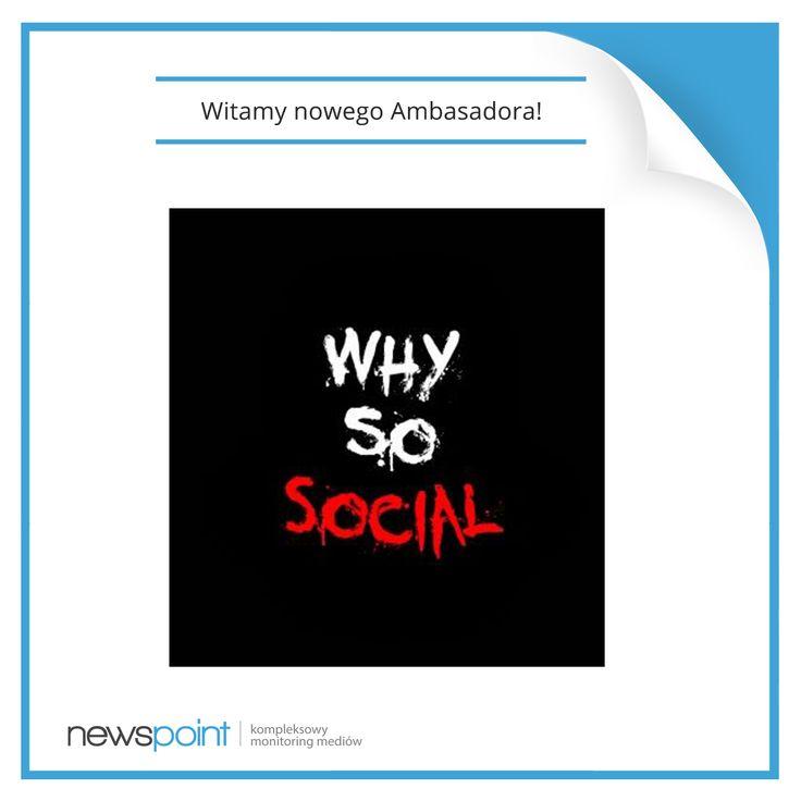 Dziś witamy w gronie naszych ambasadorów Artura Roguskiego - autora blogu Why so social! Pokażcie, jak cieszycie się z nami! :-)