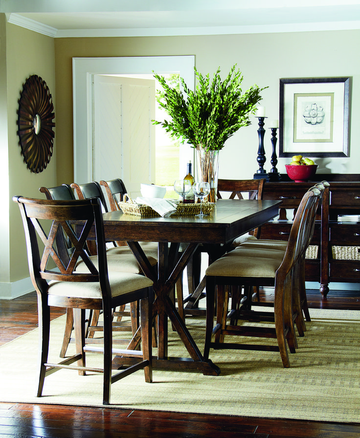 Thatcher Pub Height Table and Chairs - By Legacy Classic Furniture