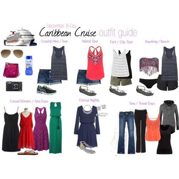 A collection of outfit ideas for my 8-night Caribbean cruise on Carnival. Includes ideas for shore excursions, casual dinners, sea days, and formal nights.  I didn't pack nearly as much as I thought I would on my last cruise but it's always nice to have an idea of what you might bring.