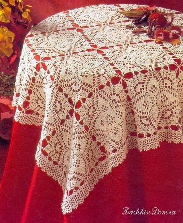 Encantador mantel tejido con grannys al crochet - con patrón