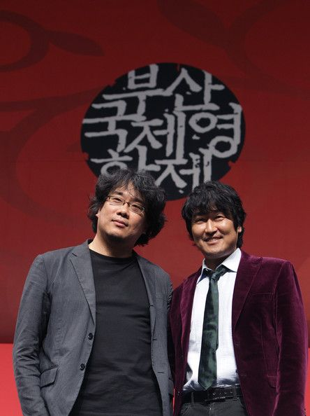 Song-Kang-Ho Photos - (L to R) Director Bong Joon-Ho and actor Song Kang-Ho attend the Gala Presentation 'Snowpiercer' Press Conference at the Shinsegae Centumcity during the 18th Busan International Film Festival on October 7, 2013 in Busan, South Korea. The biggest film festival in Asia showcases 299 films from 70 countries and runs from October 3-12. - 18th Busan International Film Festival: Day 5