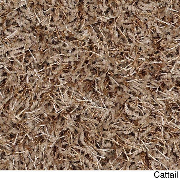 """Shaw Bling Collection Super Shag Oversized Area Rug (12' Round) (Z6809-716 Cattail), Beige, Size 11'9"""" x 11'9"""" (Nylon, Solid)"""