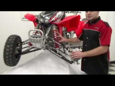 Houser Racings Honda TRX450R +2.25 Standard Length Shock Pro Series A-Arms    ~~~~~~~ TRAX ATV Store - traxatv.com ~~~~~~~ TRAX ATV Youtube - https://www.youtube.com/channel/UCI_ZJAkR3aGdwcM0z7dO94w/videos?view=1=grid