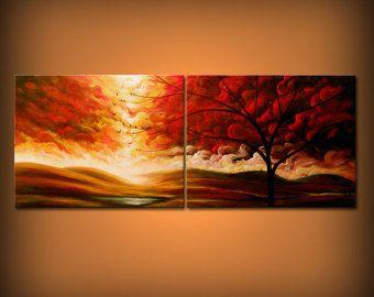kunst abstract schilderij dr. seuss boom doek muur door mattsart