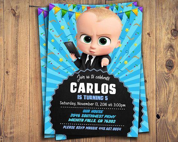 Invitación Baby Boss Cumpleaños Jefe Bebe Jefe Y Un Jefe
