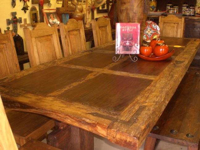 Beautiful El Tapanco Rustic Mexican Custom Furniture Store, Houston, TX