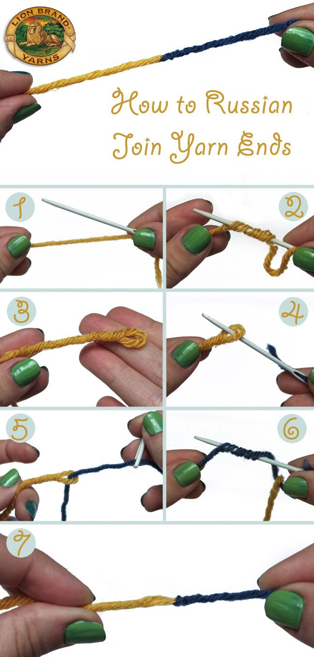 How to Russian Join Yarn in 7 Easy Steps. I use this join most of the time as it blends so well and no ends to sew in.