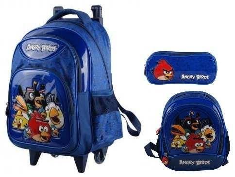 33dedfe82 mochila infantil rodinhas angry birds + lancheira estojo ma | Random |  Backpacks e Bags