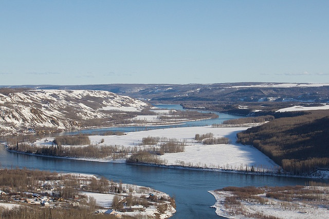The mighty Peace River. Near our home in Fort St. John, B.C., Canada.