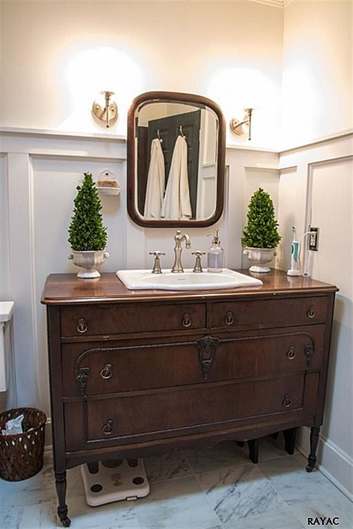 Miss Mustard Seed Marian's House for Sale (7). Drawers to vanity, plus board and battening.