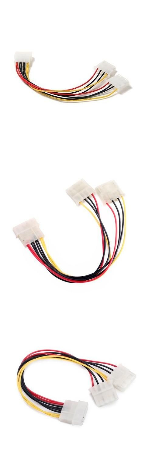 [Visit to Buy] 10 Pcs Wholesale Computer Molex 4 Pin Power Supply Y Splitter Cable #Advertisement
