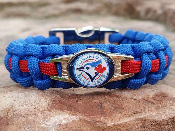 Officially Licensed Toronto Blue Jays Paracord Bracelet