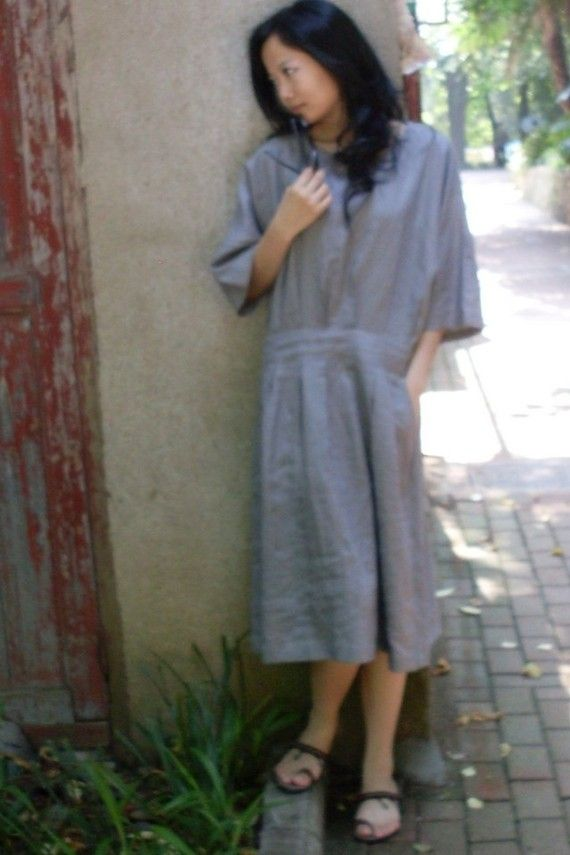 Loose linen dress (more colour and size choice)